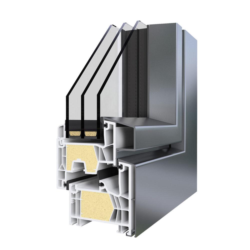 AluStyle Energytech Műanyag-Alumínium Ablak