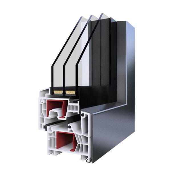 AluStyle Lux Műanyag-Alumínium Ablak