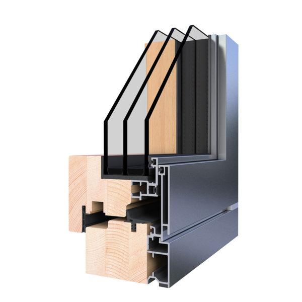 WoodStyle Lux Fa - Alumínium Hofstädter Ablak