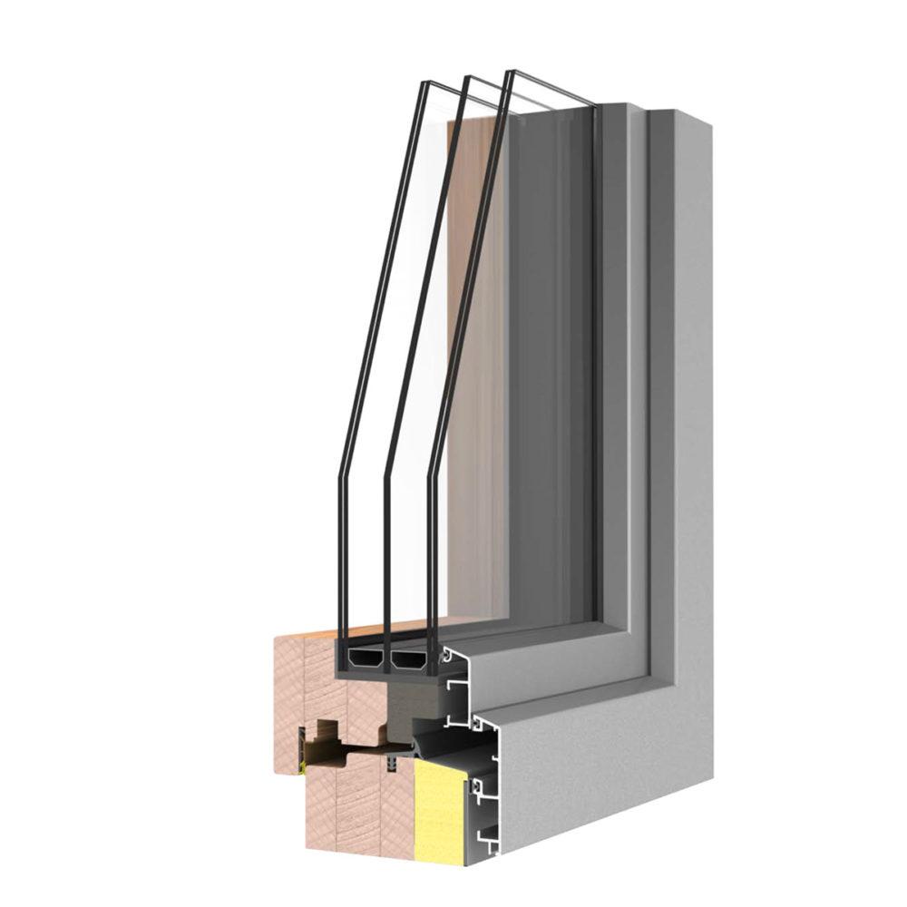 WoodStyle Energytech Fa Ablak Alumínium borítássala Hofstädtertől