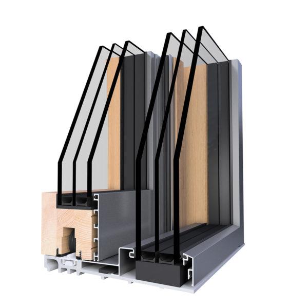 WoodStyle Slim Fa-Alumínium Hofstädter Tolóajtó