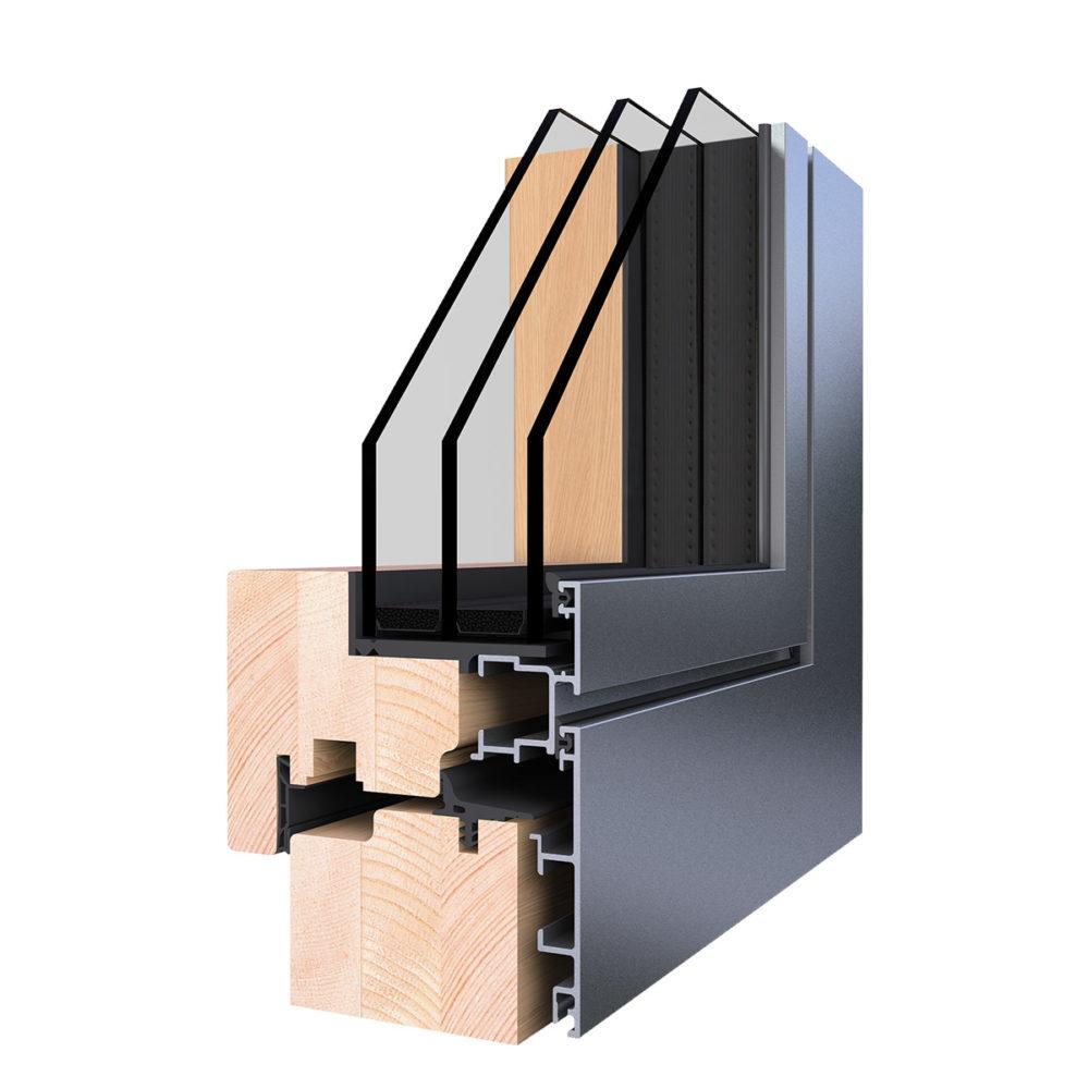 WoodStyle Nemes fa nyílászárók gondozásmentes alumínium borítással - WoodStyle Zero Fa Ablak