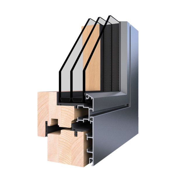 WoodStyle Zero Plus Fa-Alumínium Hofstädter Ablak