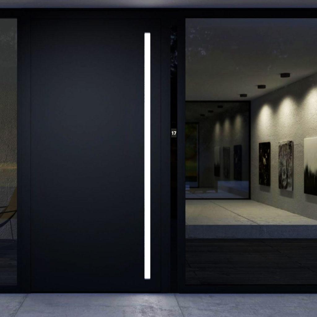 Alumínium modern bejárati ajtó - A Jövő otthona - Hofstädter Nyílászárók